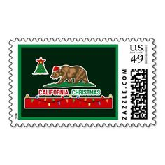 I Know Its Early But California Bear Flag Christmas Stamps From Zazzle Add A
