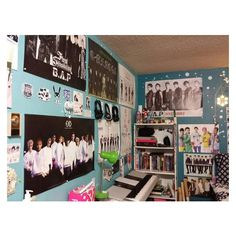 KPOP BEDROOM IDEAS -If you have little spaces... ❤ liked on Polyvore featuring home, home decor and wall art