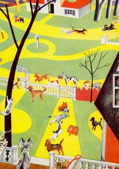 The Giant Golden Book of Dogs, Cats and Horses by Elizabeth Coatsworth and Kate Barnes, illustrated by Feodor Rojankovsky (1957).