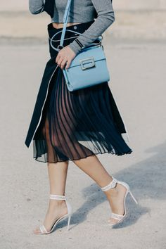 FROM CITY TO CARRIAGE HOUSE — dustjacketattic:   sheer skirt | pfw by dan...