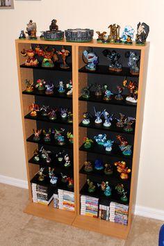 Skylanders display shelves