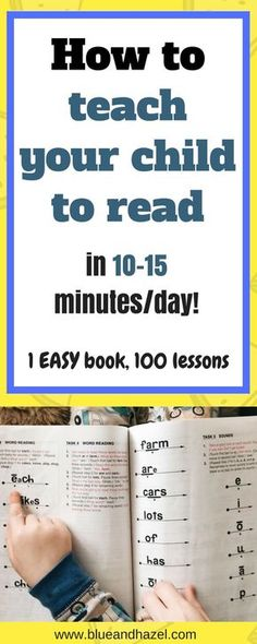 This is how we are teaching my 4 year old to read with this one easy book. Teach your Child to Read in 100 Easy Lessons! How to teach your preschooler to read// Homeschool// how get your child reading. #earlyreading #homeschool #preschool #blueandhazel