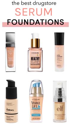If you think you need to spend big bucks for a foundation with flawless coverage plus skincare benefits, think again! these standout serum foundations (all Best Drugstore Makeup, Makeup Dupes, Beauty Makeup, Beauty Dupes, Elf Makeup, Candy Makeup, Makeup 101, Basic Makeup, Simple Makeup