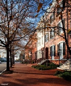 Free Stock Images City - Home - House - Landmark - Neighbourhood - Residential Area - Town - Tree - Urban Area - Woody Plant - Nyc Brownstone, Townhouse, Lafayette Park, Lafayette Louisiana, City Restaurants, Brown Walls, Property Development, New Homeowner, Home Ownership