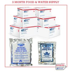 Survival Aid Long Term Food-water Storage 3 Month Supply with 5 Year Shelf Life #MainstayProductsInc