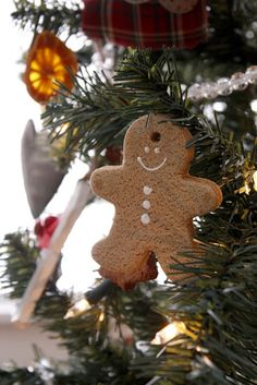 made using the salt dough recipe delia creates: Salt Dough Gingerbread Ornaments