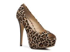 2 Lips Too Too Fabric Leopard Pump. Cute with the right outfit!