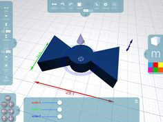 Working on the details in Morphi v2.1, w/new precision Ruler. Free download: https://itunes.apple.com/us/app/morphi/id833530351?mt=8 … #3dprinting