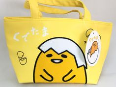 SANRIO Gudetama Cooler Tote Bag For Lunch Tote Food Bento Box From Japan  Lazy Egg 08aceb795fa64