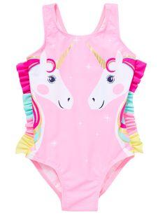 - Teeny Weeny Unicorn Swimsuit, Pink product photo Source by Trendy Swimwear, Kids Swimwear, One Piece Swimwear, Swimsuits, Cute Girl Outfits, Kids Outfits, Unicorn Swimsuit, Bikini Photos, American Girl