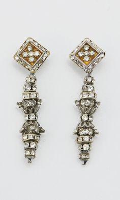 Vintage Silver Metal Earrings