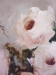 Roses by Nicole Pletts, Oil color painting, Floral art Art Inspo, Painting Inspiration, Art Floral, Art Amour, Foto Picture, Ouvrages D'art, Art Et Illustration, Abstract Flowers, Painting Flowers