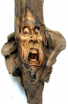 Spirit Reaper by psychosculptor – Schnitzerei Wood Carving Faces, Dremel Wood Carving, Wood Carving Art, Wood Carvings, Bone Carving, Driftwood Sculpture, Driftwood Art, Sculpture Art, Wood Stone
