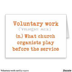 Voluntary work card