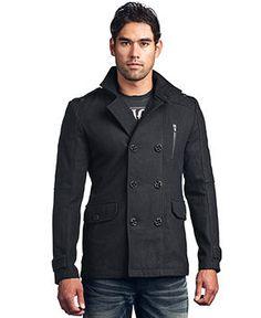 Affliction Coat, Three Quarter Length Wool Coat - Mens Coats & Jackets - Macy's