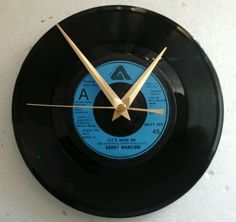 Barry manilow  clock -lets hang on  7   vinyl record clock  gift birthday xmas