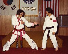 Elvis with his karate teacher Khang Rhee, 1974