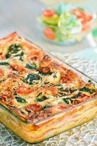 6 meatless meals ...vegetarian lasagna