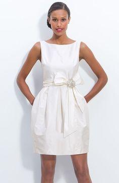 Eliza J Jeweled Sleeveless Satin Tulip Dress | perfect for the reception!