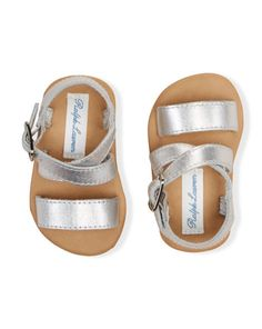 Renita Leather Sandal - Baby Girl Baby Shoes - RalphLauren.com