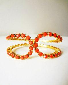 Orange Crystal Fix Bracelet
