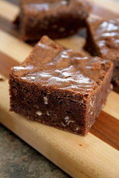 Dark Chocolate, Nutella & Coconut Brownies
