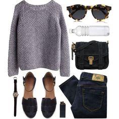 skinny jeans & chunky sweater