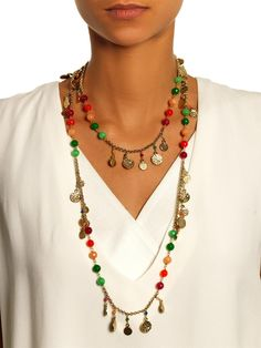 Rosantica by Michela Panero II Sole coin and agate necklace