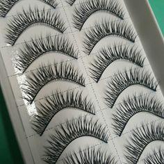 10 pairs of eyelashes criss cross lashes new 10 pairs of eyelashes, natural look. Makeup False Eyelashes