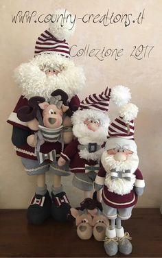 Familia santa y reno Christmas Craft Projects, Christmas Gift Decorations, Beaded Christmas Ornaments, Christmas Gnome, Christmas Animals, Christmas Art, Handmade Christmas, Diy Kaleidoscope, Murals For Kids