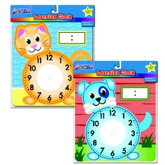 The Learning Clock is perfect for practicing telling time! Write the time and have your child draw the hands or do it the opposite way to teach time in a fun and interactive way!  Available exclusively at Dollar General for just $1!