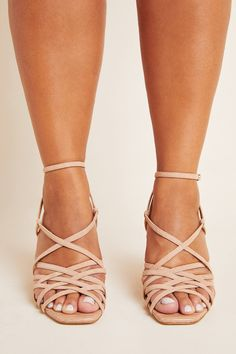 Sam Edelman Daffodil Strappy Heels by in White Size: at Anthropologie Strappy Heels, Gladiator Sandals, Fashion 2020, Fashion Trends, Celebrity List, Block Heels, Ankle Strap, Cool Style, Exotic Flowers