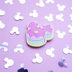 ♥ DISNEY INSPIRED PINS ♥ Show off your Disney love with this cute, pastel Mickey Mouse stack of pancakes! Each design is made with hard enamel gold metal and is 1.25 inches wide. All comes with rubber backs and a backing card. ♥ INSURANCE POLICY ♥ Insurance for this item or any
