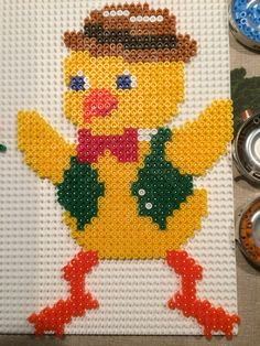 Easter chick boy hama perler beads by Julie Loose