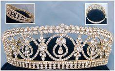Dutchess Royal Crown Gold FULL RHINESTONE Tiara Windsor – CrownDesigners