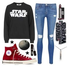 """""""Untitled #16"""" by broken-time on Polyvore featuring Frame Denim, Tee and Cake, Converse, women's clothing, women's fashion, women, female, woman, misses and juniors"""