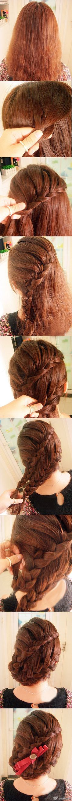 I think i'd either change or take out the bow, but otherwise, pretty hair.