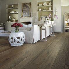 "Shaw Floors Castlewood 7-1/2"" Engineered White Oak Hardwood Flooring in Drawbridge"