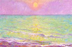 Sunset At Veules-les-roses, Seine-mer Artwork By Theodore Earl Butler Oil Painting & Art Prints On Canvas For Sale Local Art Galleries, American Impressionism, Oil Painting Reproductions, Custom Art, Canvas Art Prints, All Art, Les Oeuvres, Online Art, Art Gallery