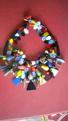 African Trade Bead Necklace via Etsy.