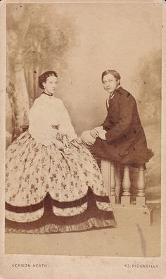 1860s portrait of the Prince and Princess of Wales.