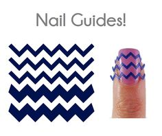Chevron Vinyl Nail Guides by beyondthenail on Etsy, $8.00