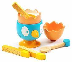 Jajko na miękko. Niebieski ptaszek DJ06636-Djeco - zabawki w gotowanie | ZieloneZabawki.pl