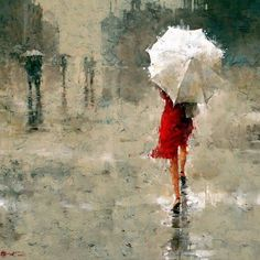 posters of woman in the rain | Girl Wearing Red Dress in the Rain | The Canadian Expat