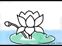 How to Draw a Lotus #DIY #art