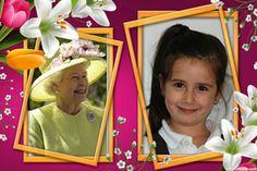 Fotoefectos felicitaciones abuela y montajes para dos fotos para el día de la Madre.