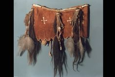 Red Stand Of Buffalo Woman Dance Belt. Arapaho, WY. 1900.