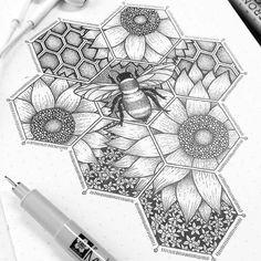 Ink Stippling Drawings.