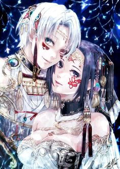 They're like the king and queen from some fantasy kingdom. I love this so much.