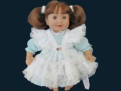 12 inch Baby Doll Dress and Apron / Corolle by kkdesignerdolls